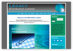 Website of Legacy Distribution