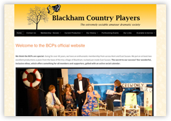 Blackham Players website
