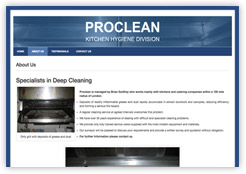 Website for Proclean Deep Cleaning