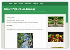 screenshot Harvey Probert Landscaping