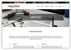 Firestone Creative website