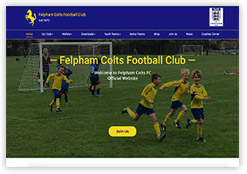 Website for Felpham Colts