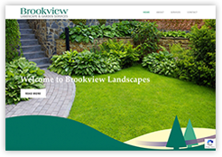 Website for Brookview Landscapes