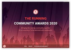 New website for The Running Community Awards 2020
