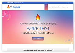 New website for SPRETHSI spirituality retreats theology singing