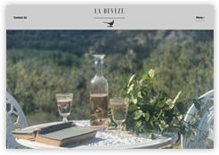 Website for La Deveze luxury accommodation in France