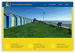Website for The Lions Bed and Breakfast, in Felpham, Bognor Regis