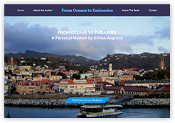 Website for 'Oceans to Embassies' Book a personal memoir by travel writer Gill Angrave