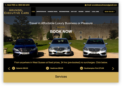 Website for Arundel Executive Cars