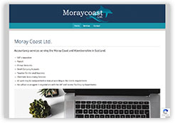 Website for Moray Coast Accountants